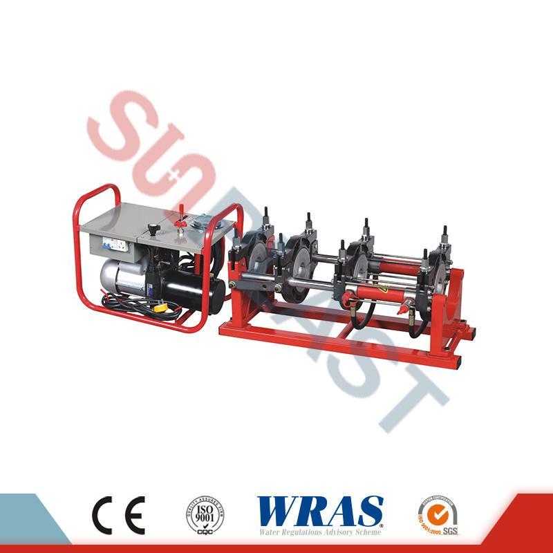 Μηχανή συγκόλλησης με υδραυλική συγκόλληση 90-250 mm για σωλήνα HDPE